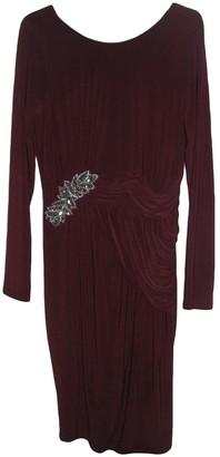 Jenny Packham Burgundy Polyester Dresses