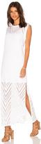 Twenty Twist Perforated Maxi Dress