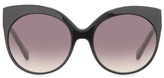 Linda Farrow White Gold-plated Cat-eye Sunglasses