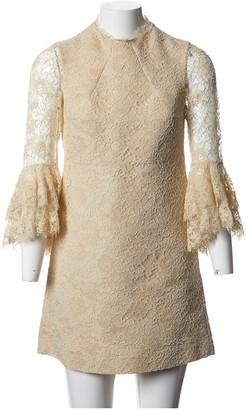 Saint Laurent Beige Lace Dress for Women