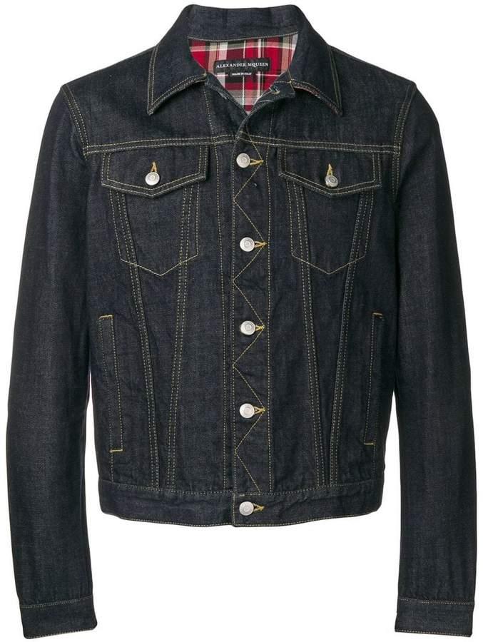 Alexander McQueen heavy denim jacket