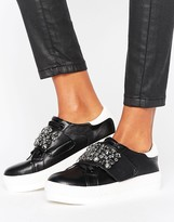 Missguided Embellished Platform Sneaker