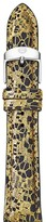 Michele Black Lace Leather Watch Strap, 16mm