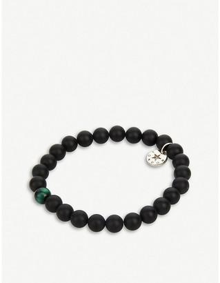 PSYCHIC SISTERS Obsidian & S Green Bracelet