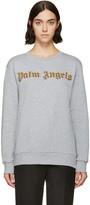 Palm Angels Grey Embroidered Logo Bullion Sweatshirt