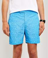 Frescobol Carioca Wave Bossa Tailored Long Swim Shorts