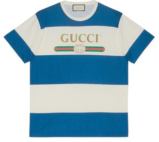 Gucci logo striped T-shirt