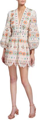 Zimmermann Brighton Plunge Mini Dress