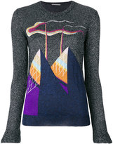 Marco De Vincenzo glitter top with embroidered print
