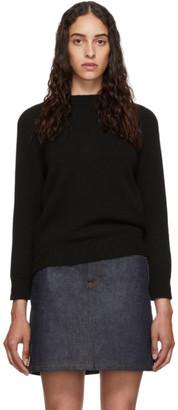 A.P.C. Black Wool Wicklow Sweater