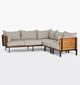 Rejuvenation Jasper Teak 3-Piece Sectional Sofa