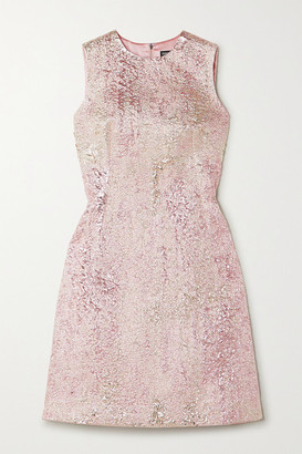 Dolce & Gabbana Metallic Cloque Mini Dress - Pink