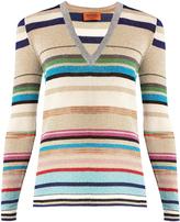Missoni Striped V-neck knit sweater