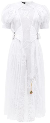 Chopova Lowena Storm Puffed-sleeve Lace Dress - White