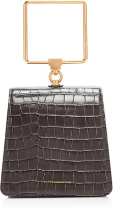 Marge Sherwood Pump Croc-Effect Leather Top Handle Bag