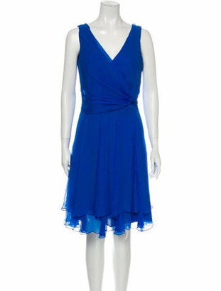 Oscar de la Renta 2013 Knee-Length Dress Blue