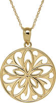 FINE JEWELRY Infinite Gold 14K Yellow Gold Filigree Flower Pendant Necklace