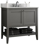 """CNC Costume National Cabinetry Vanguard 42"""" Single Bathroom Vanity Base Only Cabinetry Base Finish: Dove Grey"""