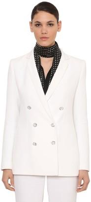 Azzaro Double Breast Cady Jacket W/ Crystals