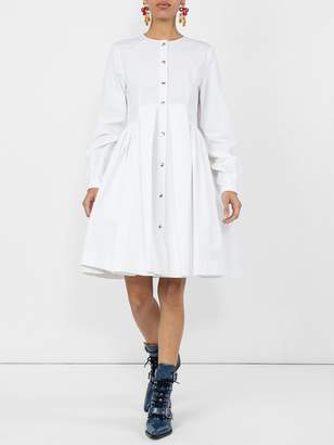 Calvin Klein flared shirt dress white