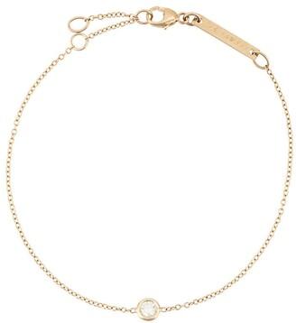 Chicco Zoë 14kt yellow gold single floating diamond bracelet