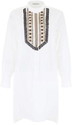 Alberta Ferretti Embellished Shirt Dress