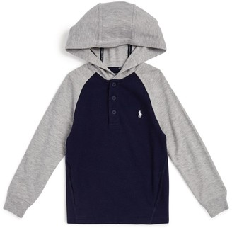 Ralph Lauren Kids Raglan Hooded Sweater (6-14 Years)