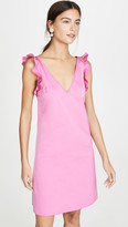 No.21 Shoulder Detail V Neck Mini Dress