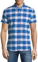Superdry Men's University Plaid Button-Down Shirt