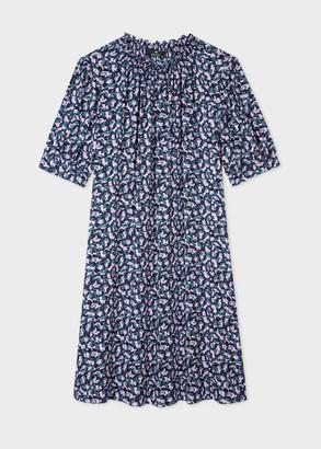 Paul Smith Women's Navy And Lilac Mini Camo Dress