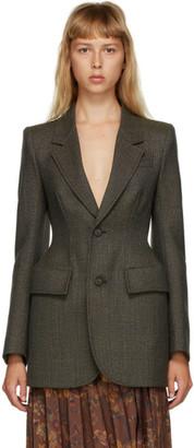 Balenciaga Multicolor Wool Houndstooth Blurry Blazer