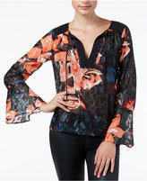 GUESS Printed Embellished Top