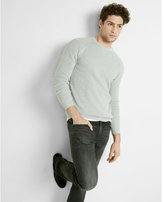 Express cotton mixed stitch crew neck sweater