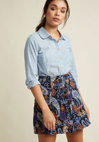 Collectif Happenin' Tapestry A-Line Mini Skirt in XL
