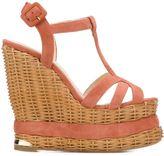 Paloma Barceló 'Valerie' sandals - women - Suede/Leather/Raffia - 40