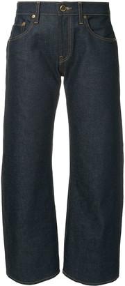 KHAITE Wendell cropped wide leg jeans