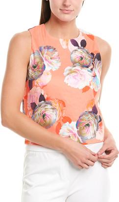 Nicole Miller Nicolle Miller Artelier Linen-Blend Top