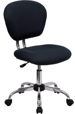 Ebern Designs Ebern Designs Mid-Back Gray Mesh Task Chair With Chrome Base Ebern Designs