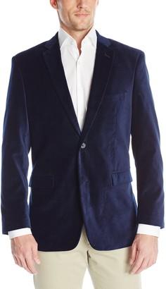 U.S. Polo Assn. Men's Velvet Blazer Navy Velvet 46 Regular