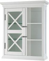 Elegant Home Fashions Wyatt One Door Storage Cubby Wall Cabinet
