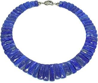 Arthur Marder Fine Jewelry Silver 0.35 Ct. Tw. Diamond & Lapiz Necklace