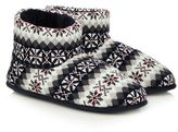Totes Grey Memory Foam Slipper Boots In A Gift Box