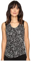 Calvin Klein Jeans Printed Lace Pieced Sleeveless Knit Shirt
