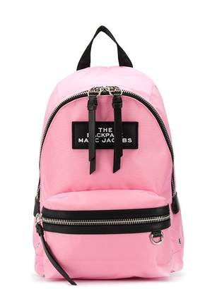 Marc Jacobs zip strapped brand patch backpack
