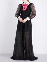 Gucci Peter Pan-collar silk gown