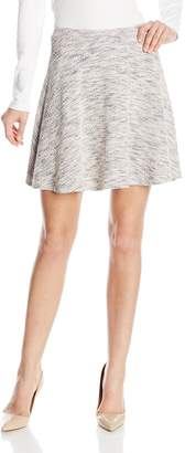 Only Hearts Women's Boucle Knit Flare Mini Skirt
