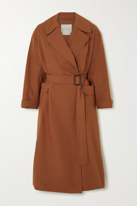 Max Mara The Cube Cotton And Silk-blend Trench Coat - Brick