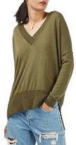 Topshop Slouchy V-Neck Sweater