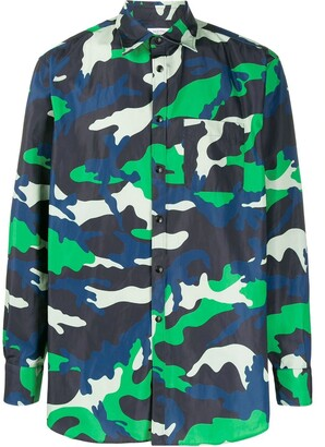 Valentino colorful camouflage shirt