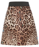 Dolce & Gabbana Embellished Silk And Wool Skirt